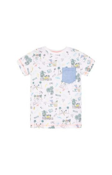 Mothercare | White Printed T-Shirt