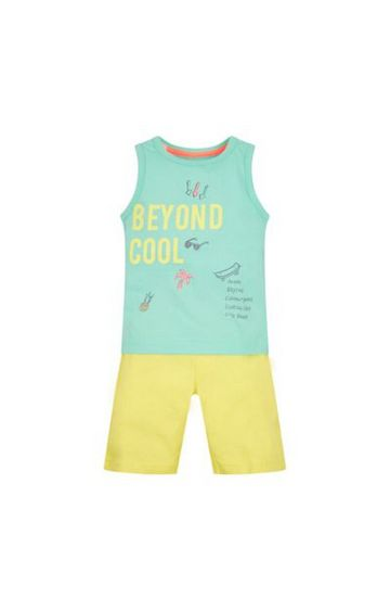 Mothercare   Green Printed Twin Set