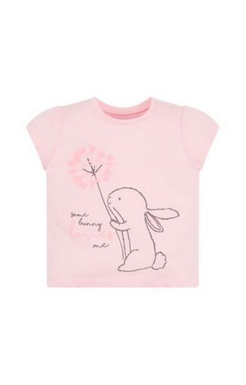 Mothercare | Pink Some Bunny Loves Me T-Shirt
