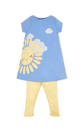 Mothercare | Blue and Yellow Printed Twin Set