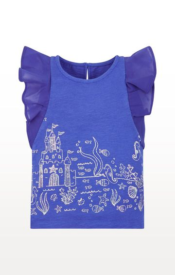 Mothercare | Blue Printed Shiny Underwater T-Shirt