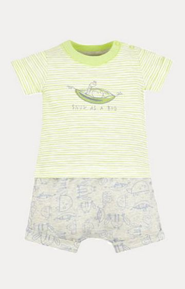 Mothercare   Green and Grey Printed Twin Set