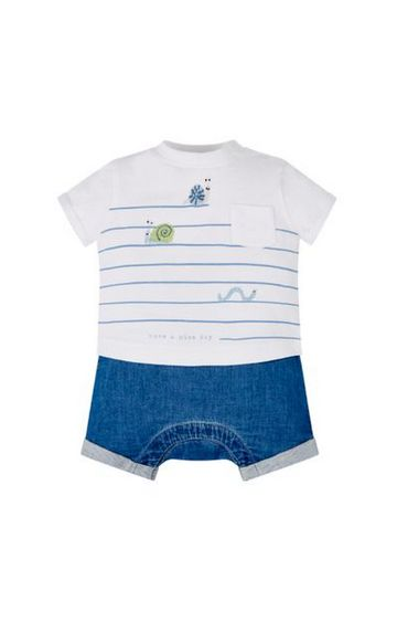 Mothercare | Blue Striped Rompers