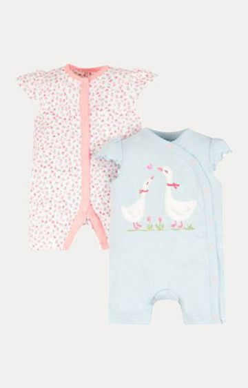 Mothercare | Floral Geese Rompers - 2 Pack