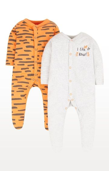 Mothercare | Little Tiger Sleepsuits - Pack of 2