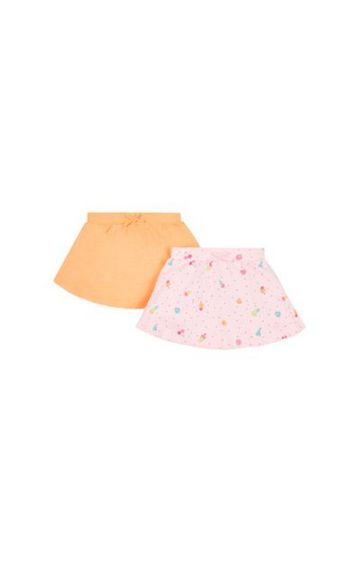 Mothercare   Pink and Peach Printed Skirt - Pack of 2