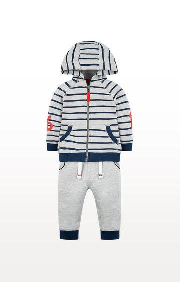 Mothercare | Grey And Blue Jog Set