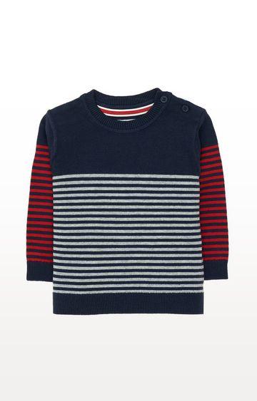 Mothercare | Navy Stripe Knit Jumper