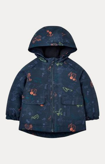 Mothercare | Navy Truck Wadded Mac