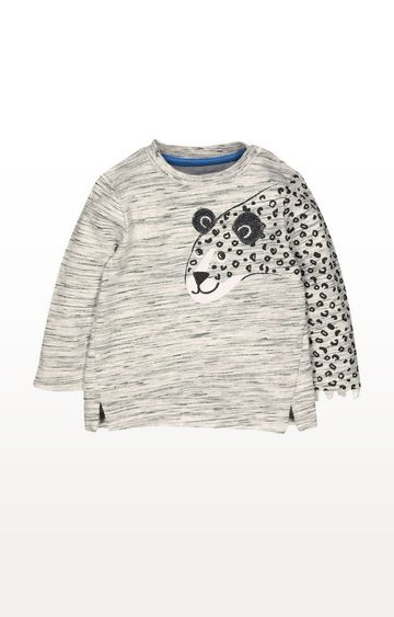Mothercare | Grey Leopard Sweat Top