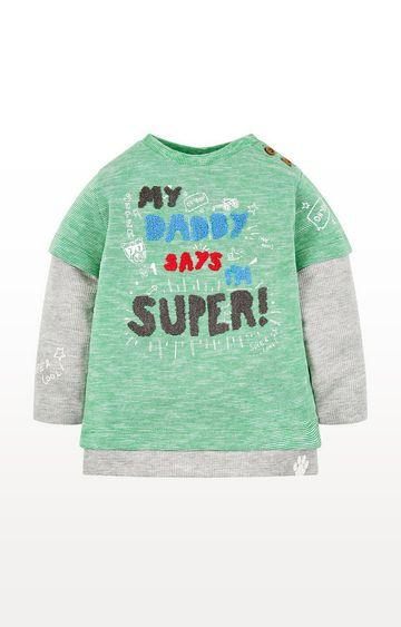 Mothercare | Green Super Mock Layer T-Shirt