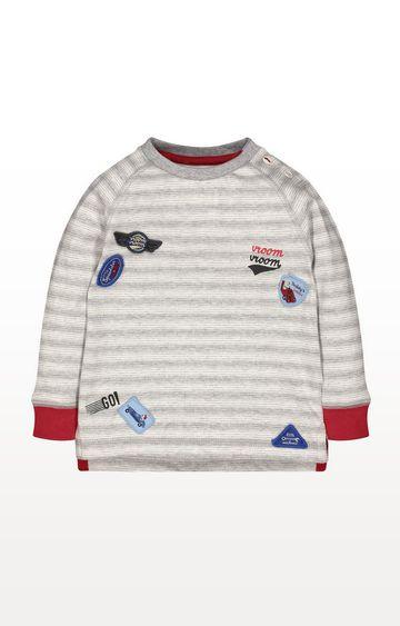 Mothercare | Grey Stripe Racing Badge T-Shirt