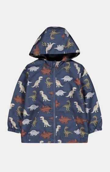 Mothercare   Navy Dinosaur Fleece-Lined Mac