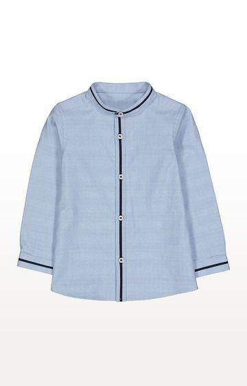 Mothercare | Blue Grandad Collar Shirt