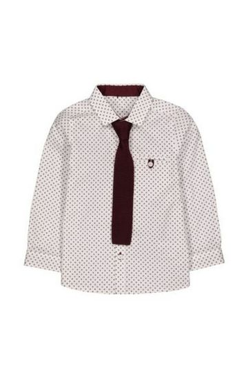 Mothercare | White Shirt With Berry Tie
