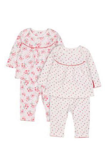Mothercare | Flower Pyjamas - 2 Pack