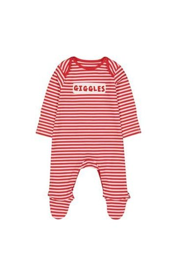 Mothercare | Red Stripe Giggles Sleepsuit
