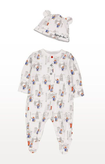 Mothercare | Paddington Bear All In One With Hat