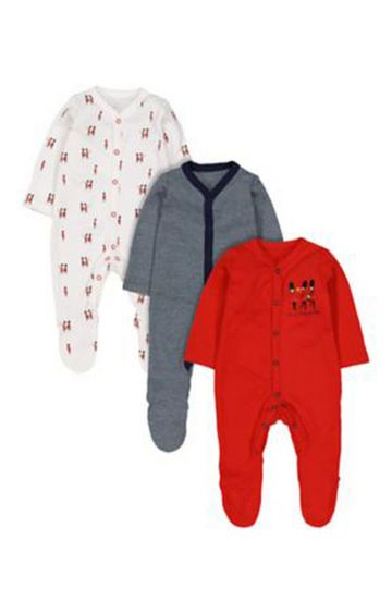 Mothercare   Soldier Sleepsuits - 3 Pack
