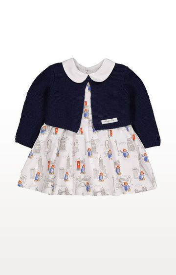 Mothercare | Paddington Bear Dress And Cardigan