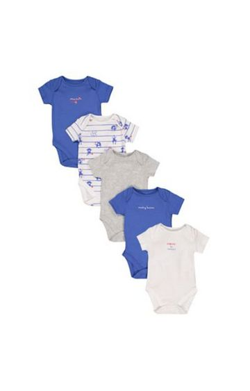 Mothercare | Monkey Business Bodysuits - 5 Pack