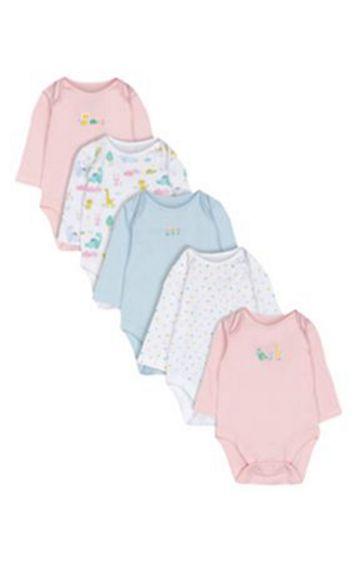 Mothercare | Dinosaur Bodysuits - 5 Pack