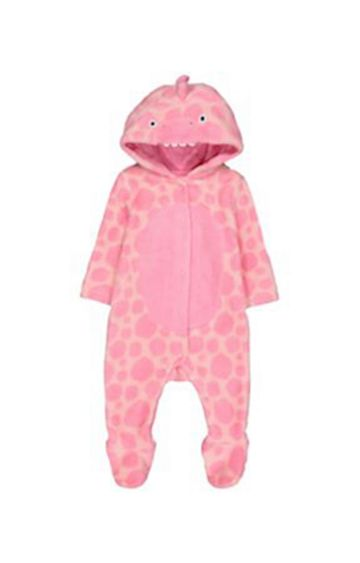 Mothercare | Pink Dinosaur Fluffy All In One