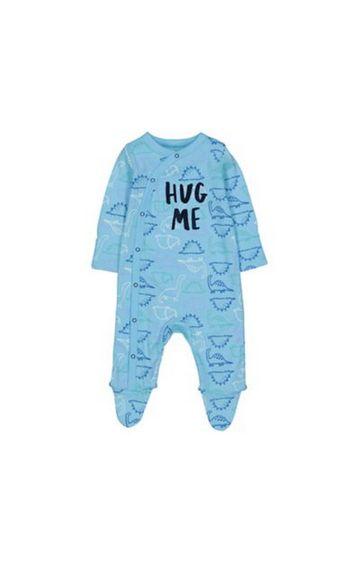 Mothercare   Blue Dinosaur Hug Me Sleepsuit
