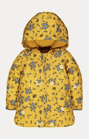 Mothercare | Mustard Floral Wadded Mac