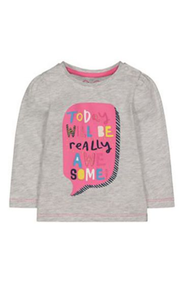 Mothercare | Grey Really Awesome T-Shirt