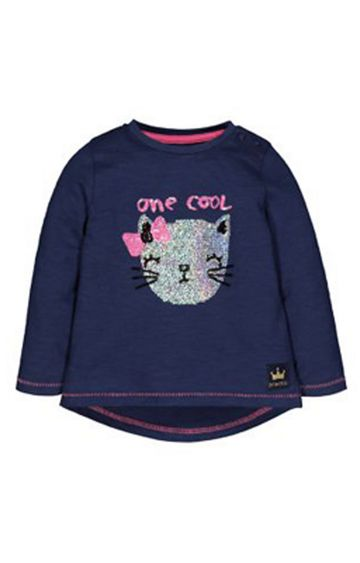 Mothercare | Navy Cool Cat T-Shirt