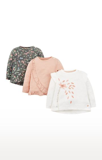 Mothercare   Flower Petal T-Shirts - 3 Pack