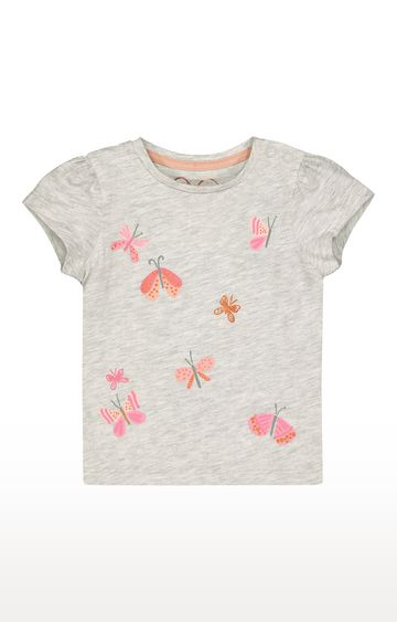 Mothercare | Grey Butterfly T-Shirt