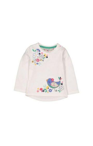 Mothercare | White Bird Flower T-Shirt