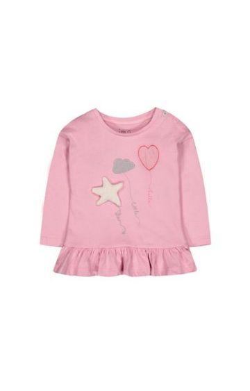 Mothercare | Pink Frill Balloon T-Shirt
