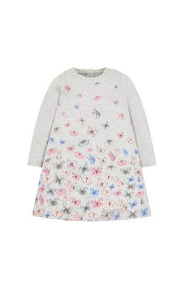 Mothercare | Grey Butterfly Jersey Dress
