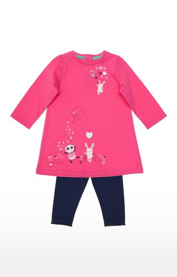 Mothercare | Pink Jersey Dress And Leggings Set