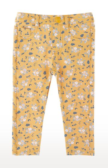 Mothercare   Mustard Floral Trousers