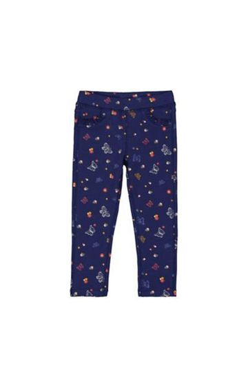 Mothercare   Blue Floral Butterfly Jeggings