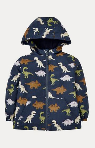 Mothercare | Navy Dinosaur Fleece-Lined Mac