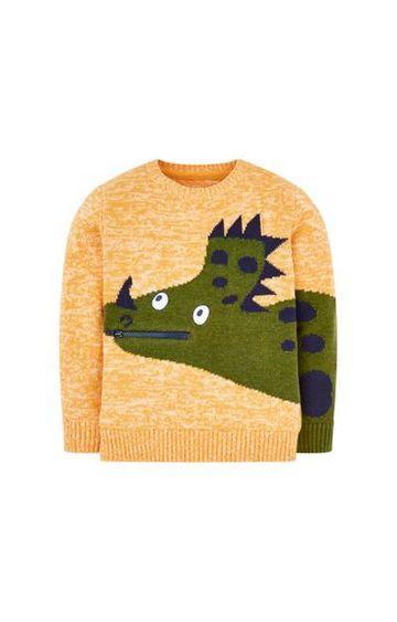 Mothercare   Orange Dinosaur Knitted Jumper