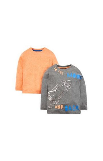 Mothercare | To The Moon And Back T-Shirts - 2 Pack