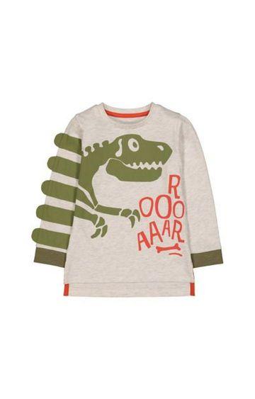 Mothercare   Grey Dinosaur T-Shirt