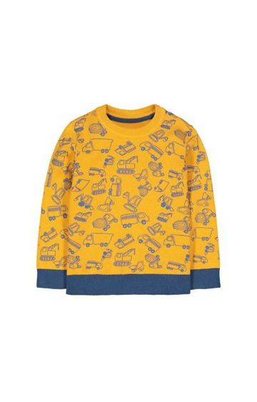 Mothercare | Yellow Truck Print Knitted Jumper
