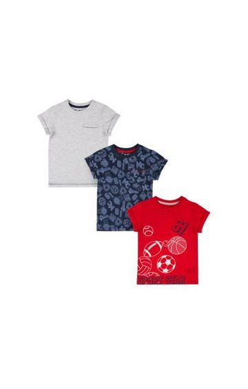 Mothercare | Sports Star T-Shirts - 3 Pack