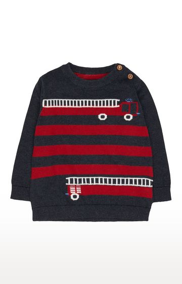 Mothercare | Navy Fire Engine Knit Jumper
