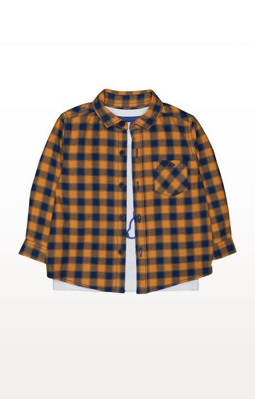 Mothercare | Check Shirt And Polar Bear T-Shirt Set