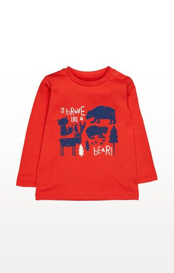 Mothercare | Red Brave Like A Bear T-Shirt