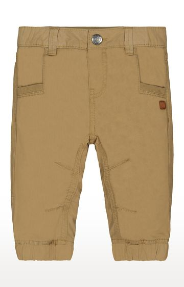 Mothercare   Tan Jersey-Lined Woven Trousers