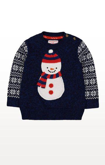 Mothercare | Navy Snowman Christmas Jumper